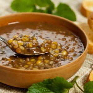 Как армяне готовят чечевичный суп со шпинатом
