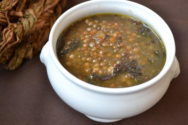 Армянский суп с чечевицей и авелуком